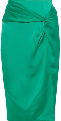 Rebecca Minkoff Winta Twist-front Satin Pencil Skirt