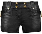 Just Cavalli Metallic Coated-Denim Shorts