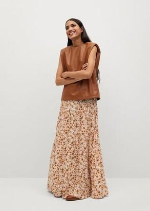 MANGO Long floral skirt