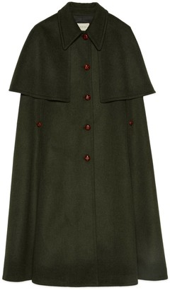 Gucci Wool coat with detachable cape