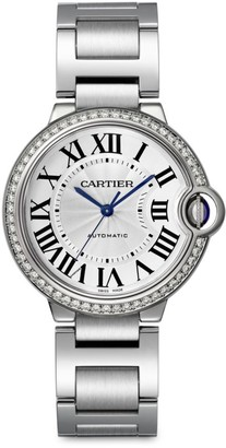 Cartier Ballon Bleu de Stainless Steel & Diamond Bracelet Watch/36MM