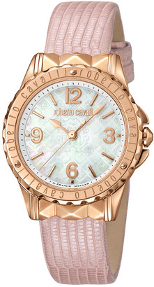 Roberto Cavalli Women's Calfskin Leather Watch