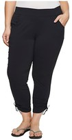 Columbia Plus Size Anytime Casualtm Ankle Pants (Black) Women's Casual Pants