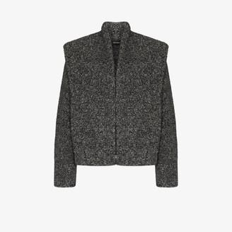 Isabel Marant Exaggerated Shoulder Boucle Jacket