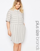 Junarose Striped Shirt Dress