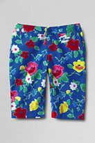 Classic Little Girls Print Bermuda Shorts-Honeysuckle Pineapple