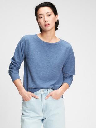 Gap Relaxed Textured Crewneck Sweatshirt