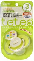 Combi Teteo Pacifier with Cap Size 3 Green by