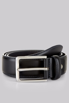 Moss Bros Navy Real Leather Belt
