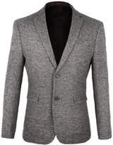 VOBOOM Men's Two Button Sport Coat Elbow Patches Blazer Casual Suit Jacket (XL)