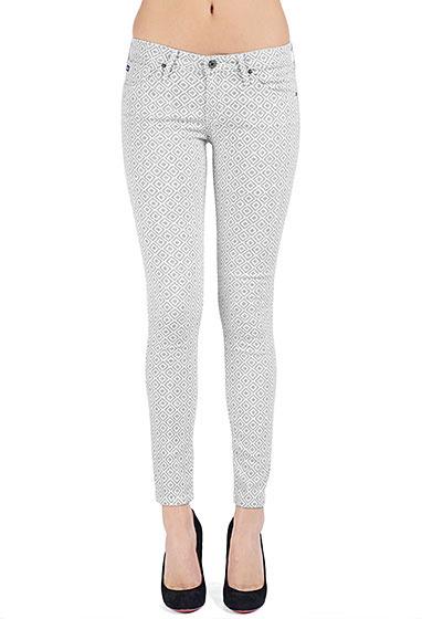 AG Jeans The Legging Ankle - Basket Weave Grey