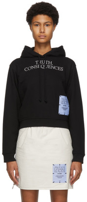 McQ Black Truth, Consequences Crop Hoodie