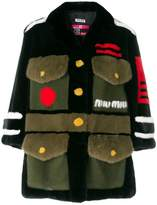 Miu Miu fur army coat