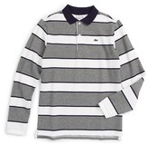 Lacoste Boy's Stripe Pique Polo