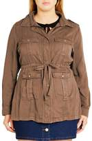 City Chic Plus Size Women's 'Adventure' Utility Jacket
