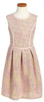 Blush by Us Angels Girl's Tweed Fit & Flare Dress