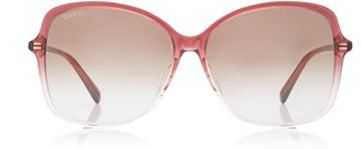 Gucci Ultralight Round-Frame Acetate Sunglasses