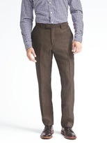 Banana Republic Standard Solid Linen Suit Trouser