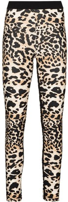 Paco Rabanne Leopard Print Stretch-Fit Leggings