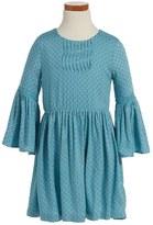 Pumpkin Patch Tile Print Dress (Toddler Girls & Little Girls)