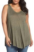 Sejour Plus Size Women's Triangle Knit Tank
