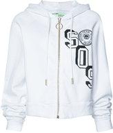Off-White SOS print zipped hoodie