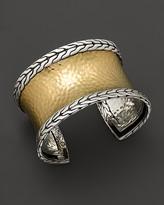 John Hardy Palu 18K Gold and Silver Medium Cuff
