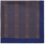 Barneys New York MEN'S GLEN PLAID SILK TWILL POCKET SQUARE