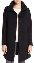 Kristen Blake Funnel Neck Wool Blend Coat (Regular & Petite)