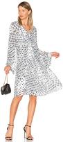 See by Chloe Long Sleeve Floral Mini Dress in Black