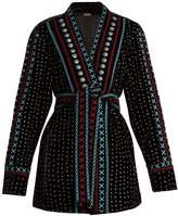 DODO BAR OR Siya embroidered velvet kimono jacket