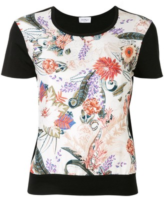Salvatore Ferragamo floral feather print T-shirt