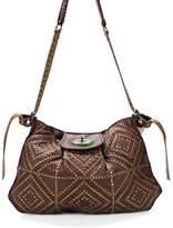 Jamin Puech Brown Studded Flap Large Crossbody Handbag New
