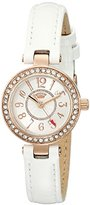 Juicy Couture Women's 1901249 Luxe Couture Analog Display Quartz White Watch