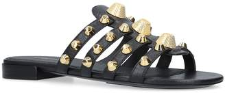 Balenciaga Leather Gwen Studded Sandals