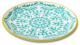 Mudhut Marika 10.5in Melamine Dinner Plate - Gold/Blue