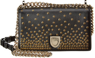 Christian Dior Small Diorama Studded Leather Shoulder Bag