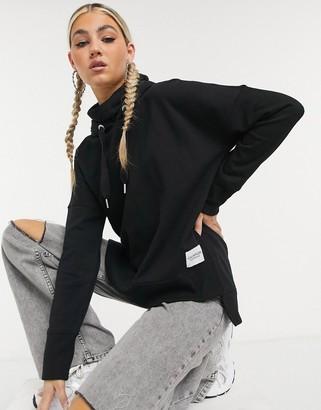 Calvin Klein coordinating funnel neck hoodie in black