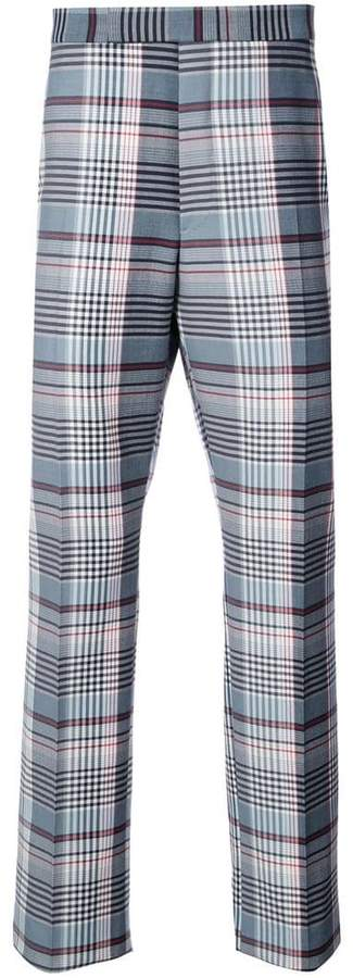 Thom Browne plaid tailored trousers