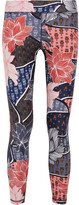 The Upside Enchanting Printed Stretch-jersey Leggings - Navy