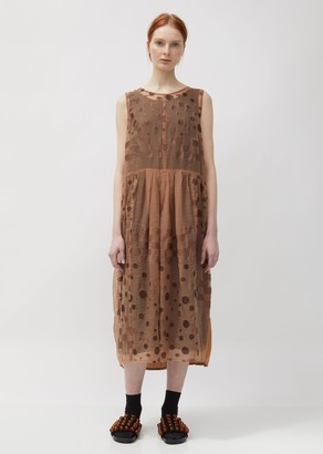 Pas De Calais Cupro Overlay Dotted Dress