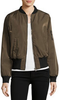Bishop + Young Charmeuse Bomber Jacket, Olive