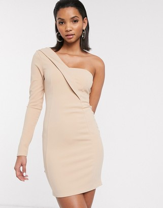 ASOS DESIGN one shoulder tux mini dress