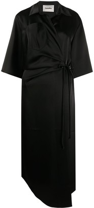 Nanushka Satin Wrap Dress
