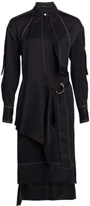 Proenza Schouler Belted Long-Sleeve Gabardine Shirtdress