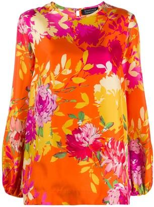 Gianluca Capannolo Floral Print Silk Blouse