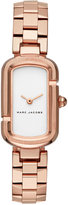 Marc Jacobs Women's The Jacob Rose Gold-Tone Stainless Steel Bracelet Watch 20x31mm MJ3505