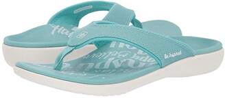 Spenco Yumi 2 Inspiration (Aqua Sea) Women's Sandals