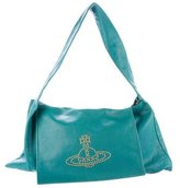 Vivienne Westwood Logo-Accented Leather Shoulder Bag