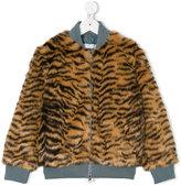 Stella McCartney tiger print jacket - kids - Acrylic/Modacrylic/Polyester - 8 yrs